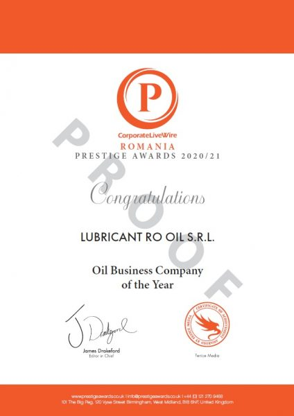 Oil Business Company of the Year